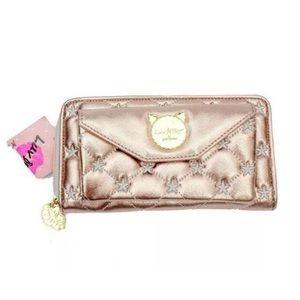 Betsey Johnson Wallet Luv Rose Gold Checkbook